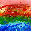 Rainbow Abstract by JuliaFineArt