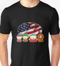 South park- US flag ( black ) T-Shirt