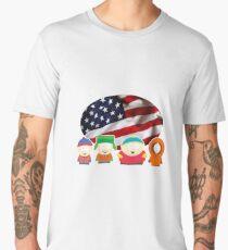 South park- US flag ( black ) Men's Premium T-Shirt