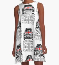 British Classic barcode A-Line Dress