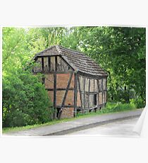 Half-timbered house in Altwustrow Poster