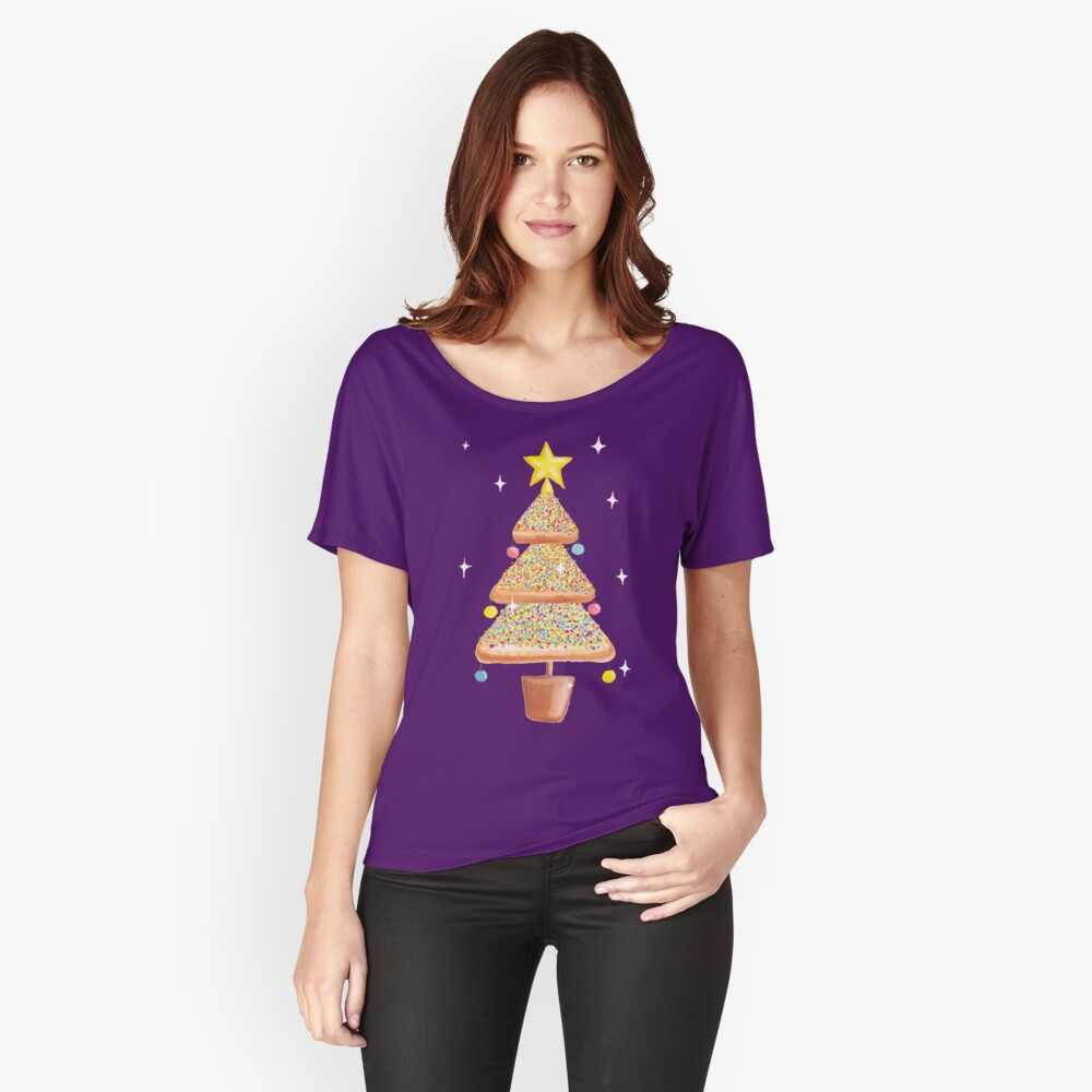 Fairy Christmas - Fairy Bread - Pink Women's Relaxed Fit T-Shirt Front