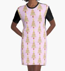Fairy Christmas - Fairy Bread - Pink Graphic T-Shirt Dress