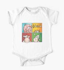 Colourful Farm Animals - Cow - Pig - Sheep - Cat - Cartoon Kids Clothes