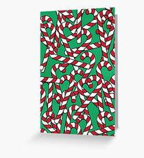 Candy Canes Addiction Greeting Card