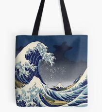 Great Wave: Kanagawa Night Tote Bag