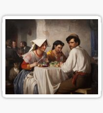 In a Roman Osteria 1863 Carl Heinrich Bloch Sticker