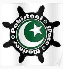 Pakistani Space Marines Badge Poster