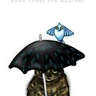 Under the Weather Cat with Bird by Cherie Roe Dirksen