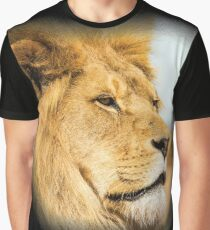 Big lion looking far away Graphic T-Shirt
