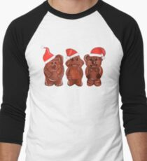 Three Chocolatiers - Freddo, Caramello & Yowie - Christmas Men's Baseball ¾ T-Shirt