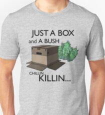 Just a box and a bush.. Unisex T-Shirt
