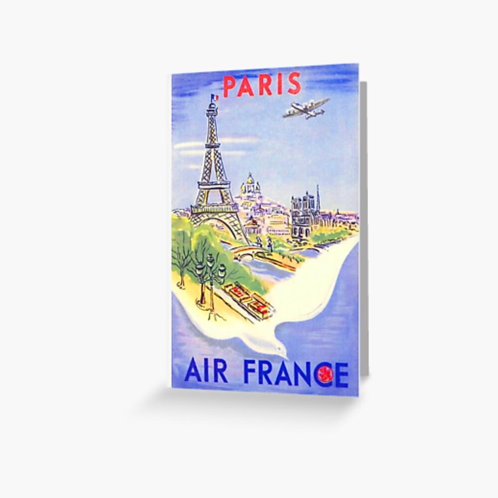 Vintage Paris Travel Poster Tarjetas de felicitación