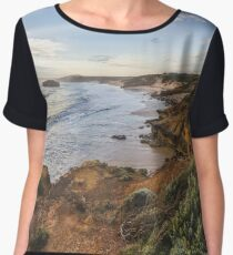 Bay of Martyrs sunset panorama Chiffon Top
