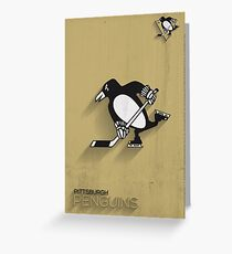Pittsburgh Penguins Minimalistic Print Greeting Card