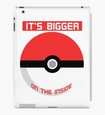 Pokemon - It's bigger on the inside.. iPad Case/Skin