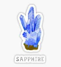 Sapphire, dear to Saturn Sticker