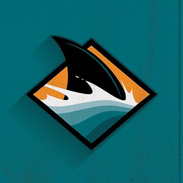 San Jose Sharks Minimalistic Print by SomebodyApparel