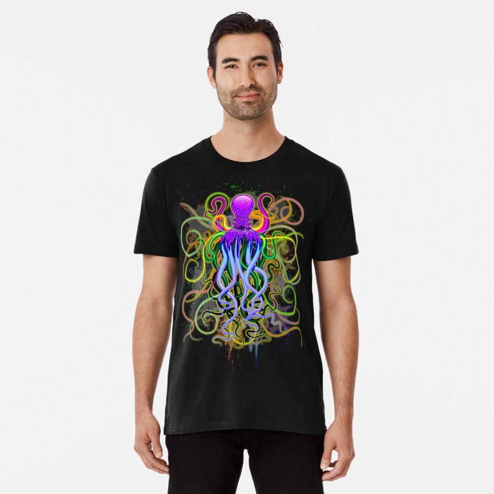 Pulpo de luminiscencia psicodélica Camiseta premium