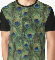 Peacock Feathers Graphic T-Shirt