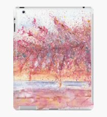 Pink Abstract Landscape Illustration iPad Case/Skin