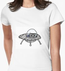 Space Cats Women's Fitted T-Shirt