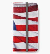 American Flag flying iPhone Wallet/Case/Skin