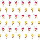 Ice Cream Pattern (Pink & Yellow) by jezkemp
