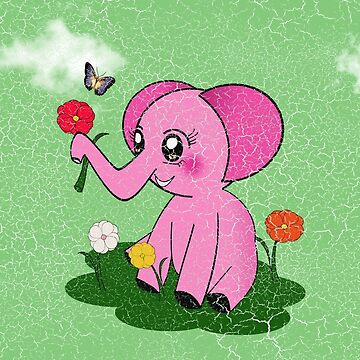 Pinky Elephant by Rainy