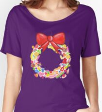 Deck The Halls With Lots Of Lollies Women's Relaxed Fit T-Shirt