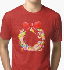 Deck The Halls With Lots Of Lollies Tri-blend T-Shirt