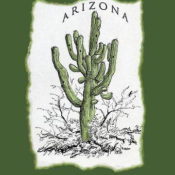 Arizona Saguaro art by DAdeSimone