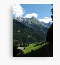A walk in the mountians Canvas Print