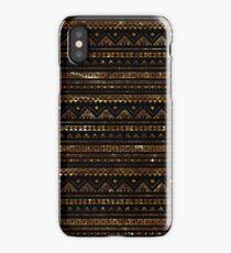 Aztec Black Tinsel Gold iPhone Case/Skin