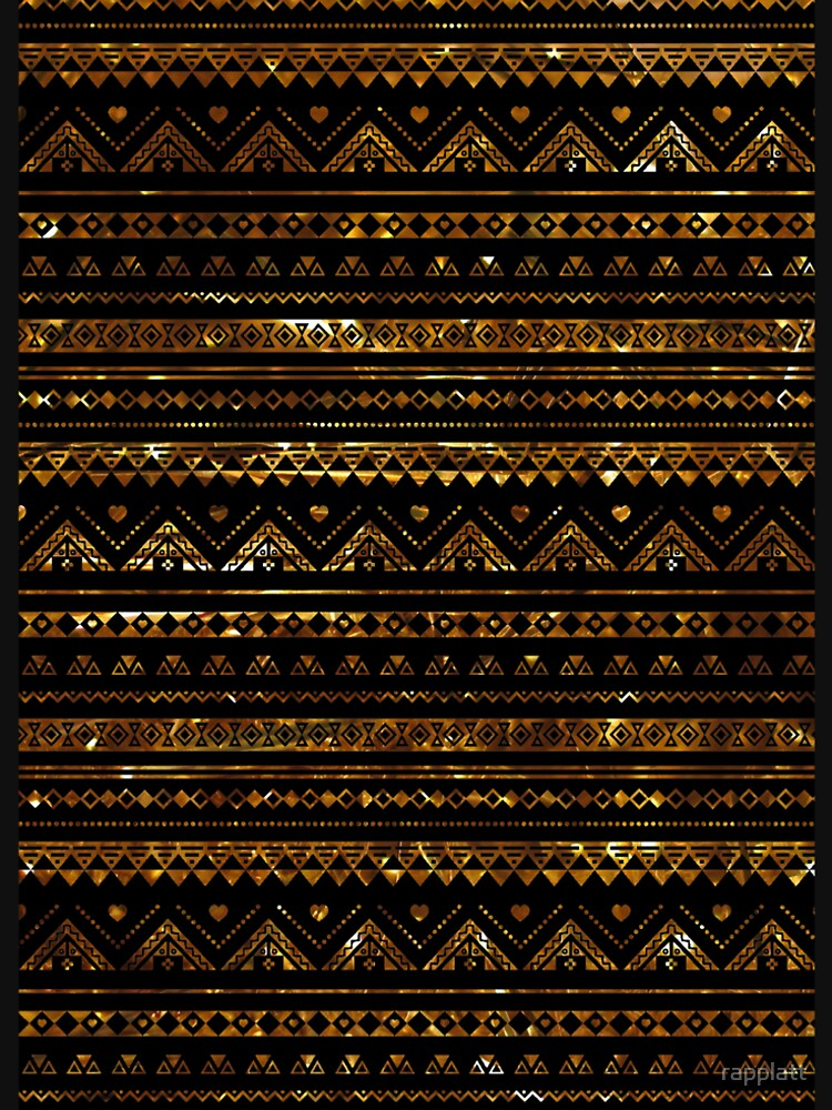 Aztec Black Tinsel Gold by rapplatt