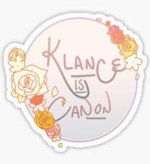Klance is Canon Sticker
