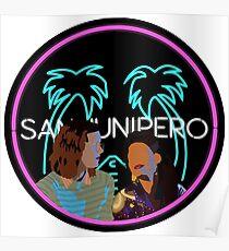 San Junipero Sticker Poster