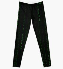"""Buy Bitcoin"" Matrix Print Leggings"