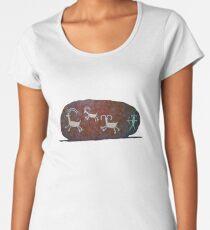 Boulder Petroglyphs Women's Premium T-Shirt