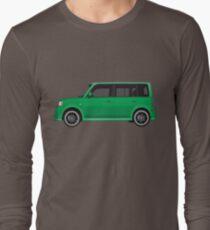 Vectored Boxcar Green Long Sleeve T-Shirt