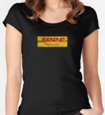 We don't care. DHL. Women's Fitted Scoop T-Shirt