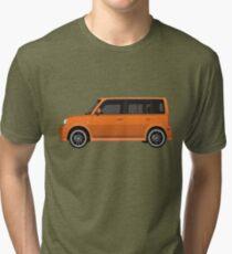 Vectored Boxcar Orange Tri-blend T-Shirt