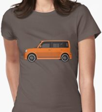 Vectored Boxcar Orange Women's Fitted T-Shirt
