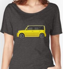 Vectored Boxcar Yellow Women's Relaxed Fit T-Shirt