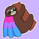 Bisexual LGBTQ* Pride Sloth by riotcakes