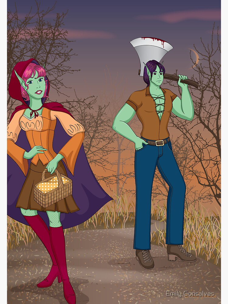 Red and the Woodsman by emilygonsalves