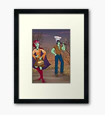Red and the Woodsman Framed Print