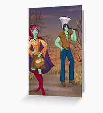 Red and the Woodsman Greeting Card