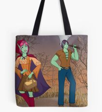 Red and the Woodsman Tote Bag