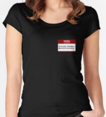Hello My Name Is Princess Consuela Women's Fitted Scoop T-Shirt